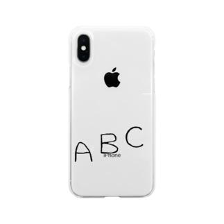 komai31のABC ロゴ Soft clear smartphone cases
