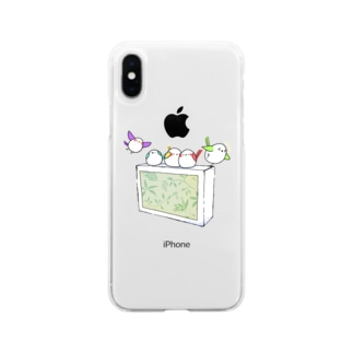 シガーエナガ Soft clear smartphone cases
