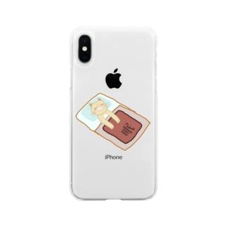 ねるねこ Soft clear smartphone cases