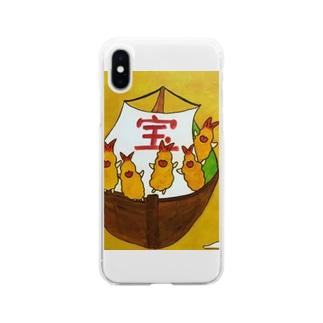 フラちゃんの宝船 Soft clear smartphone cases