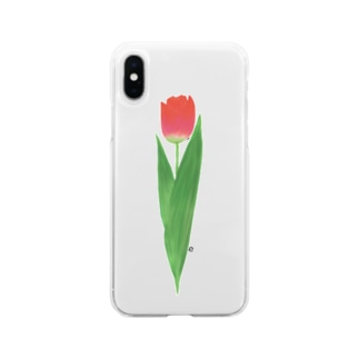 🌷tulip🌷 Soft clear smartphone cases