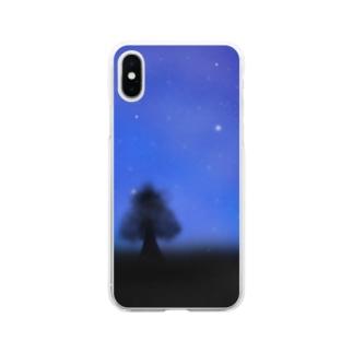 星空 スマホケース2 Soft clear smartphone cases
