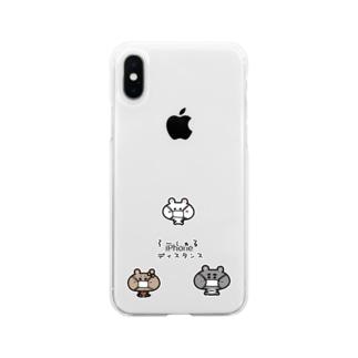 くまコロりん『そーしゃるディスタンス』 Soft clear smartphone cases