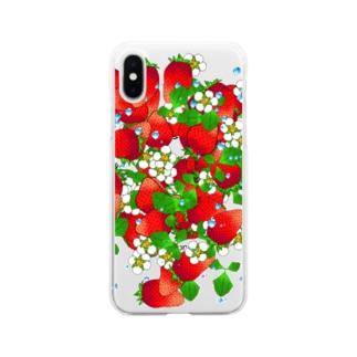 フレッシュ☆ストロベリー Soft clear smartphone cases