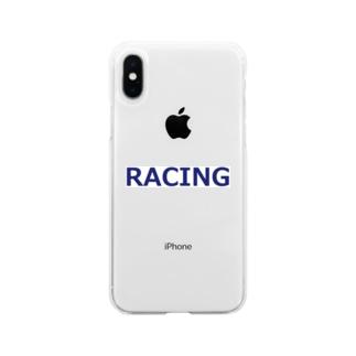 アメリカンベースのレーシング Soft clear smartphone cases