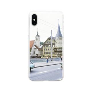 スイス:ルツェルン湖畔の風景写真 Switzerland: Luzern Soft clear smartphone cases