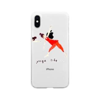 ヨガライフ Soft clear smartphone cases