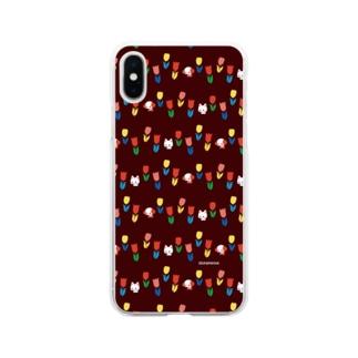 とことこチューリップ Soft clear smartphone cases