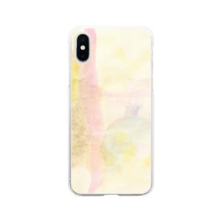 satonoe 桃 Soft clear smartphone cases