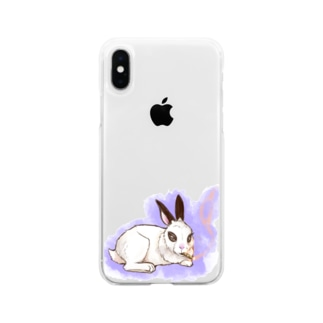 ダンディなうさぎさん Soft clear smartphone cases
