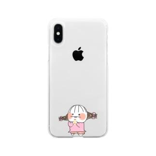 でぱ子 Soft clear smartphone cases