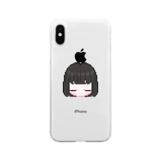 おやすみちゃん Soft clear smartphone cases