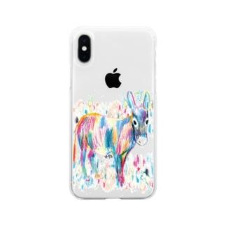 KAERUCAFE SHOPのドンキー Soft clear smartphone cases