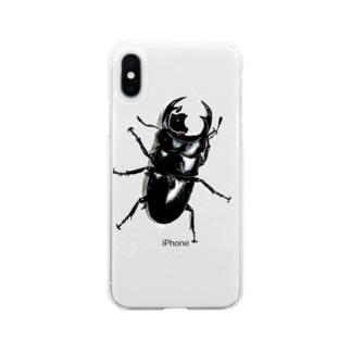 オオクワガタくん Soft clear smartphone cases