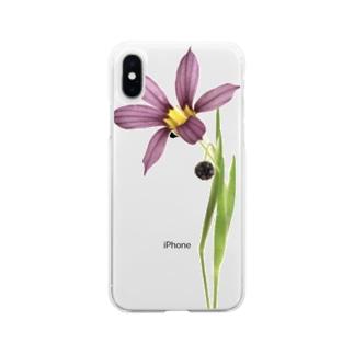 庭石菖/ニワゼキショウ Soft clear smartphone cases