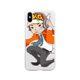 でき心。のアイコンのキャラクターカラー版 Soft clear smartphone cases