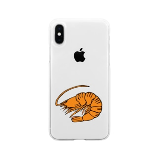 海老 エビ shrimp NO.36 Soft clear smartphone cases