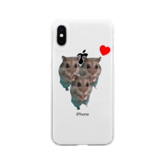 ネルちゃんストアのネルちゃんハート Soft clear smartphone cases