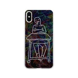はくちゅーむくん Soft clear smartphone cases
