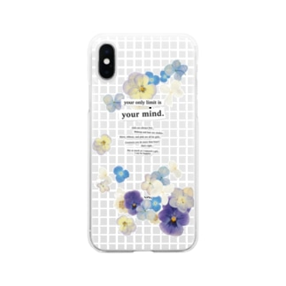 cee5    クリア/90s/ガーリー/花 Soft clear smartphone cases