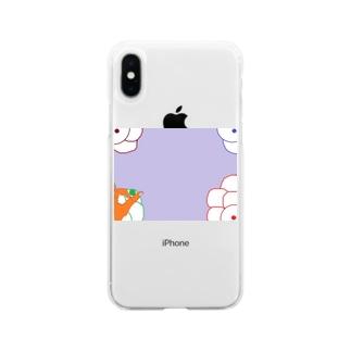 隠岐の昔の遊び Soft clear smartphone cases