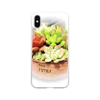 rie(๑´ڡ`๑)のSucculent plant*多肉植物 Soft clear smartphone cases