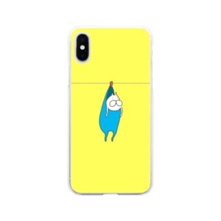 ねこタイツの洗濯 Soft clear smartphone cases