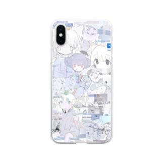 ゆーきん×砂気球 Soft clear smartphone cases
