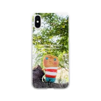 木の上からこんにちは Soft clear smartphone cases