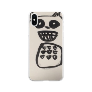 miso-rumisokeの自粛っくま Soft clear smartphone cases