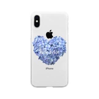 しぱしぱの6月の花嫁 Soft clear smartphone cases