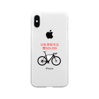 自転車 Soft clear smartphone cases