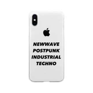NEWWAVE POSTPUNK INDUSTRIAL TECHNO Soft clear smartphone cases