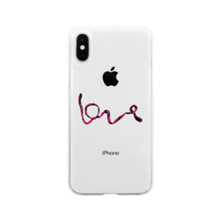 Loveミサンガ Soft clear smartphone cases