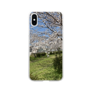 kawachu5の春の桜 Soft clear smartphone cases
