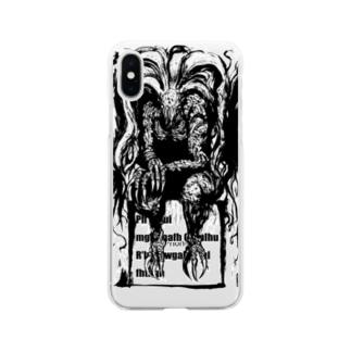 墨絵クトゥルフ Soft clear smartphone cases
