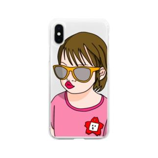 あーみゅのわる園児 Soft clear smartphone cases
