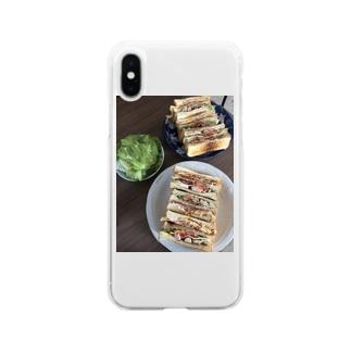 ご機嫌なアメリカンクラブサンド Soft clear smartphone cases