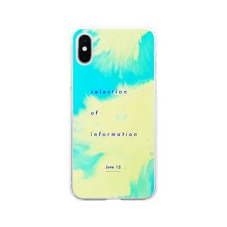 mmukのショップのJune13-日付あり- Soft clear smartphone cases
