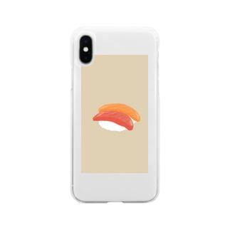 さーもんとまぐろ Soft clear smartphone cases