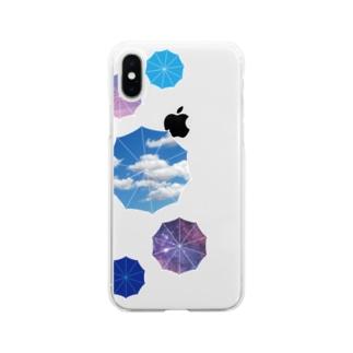 晴色パラソル Soft clear smartphone cases