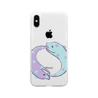 ぐるぐるうつぼ Soft clear smartphone cases