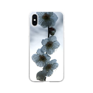 北野天満宮の梅 Soft clear smartphone cases