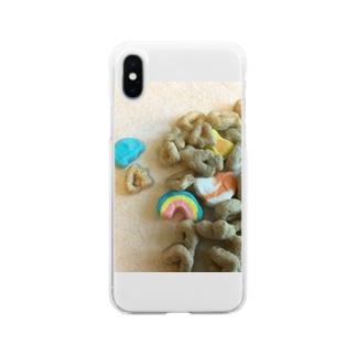 お菓子 Soft clear smartphone cases