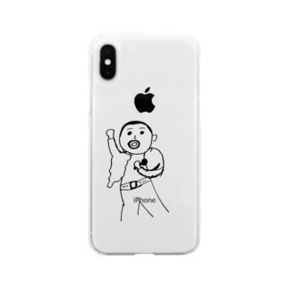 日本国籍のフレディー。 Soft clear smartphone cases