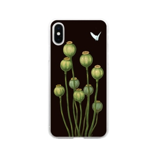 Flower bud and Small butterfly Soft clear smartphone cases
