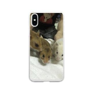 3匹のハムスター Soft Clear Smartphone Case