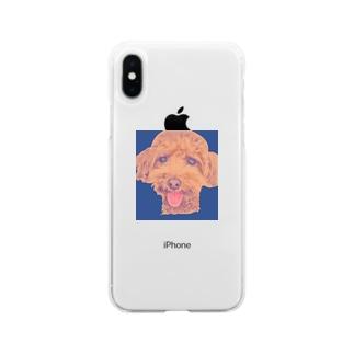 海老太郎のスマイルちゃん Soft clear smartphone cases