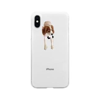 てながキャバ Soft clear smartphone cases