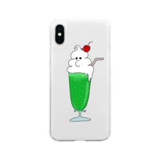 mashmorayのクリームソーダーさん Soft clear smartphone cases
